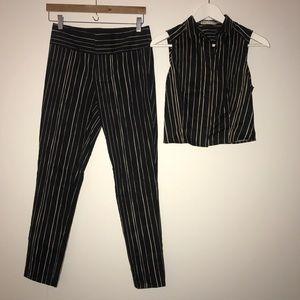 Alice & Olivia crop top pant suit
